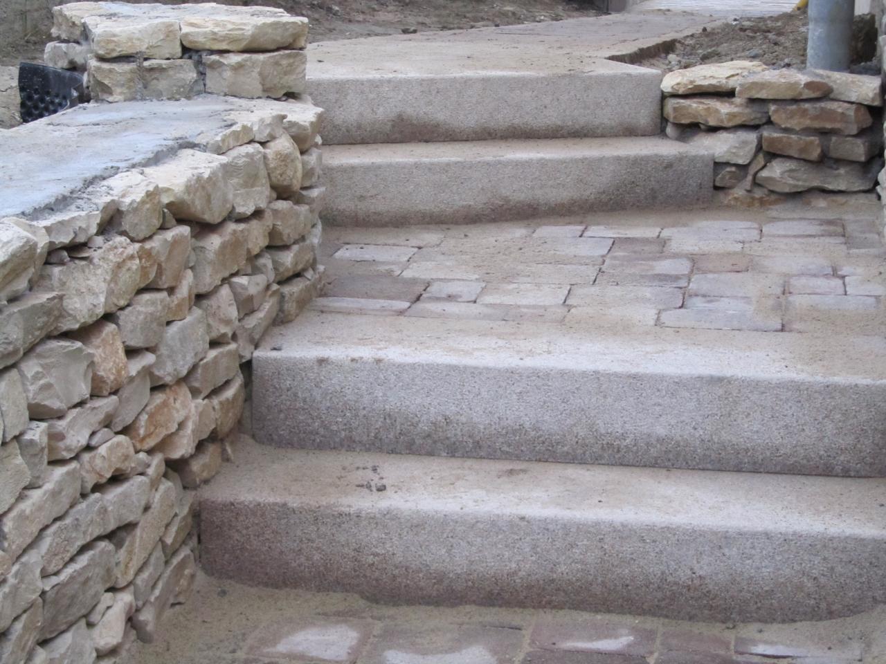escalier bloc marche granit