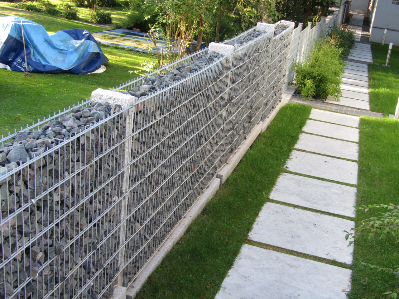 1000 images about gabion walls on pinterest planters for Cloture de piscine